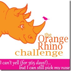 orange rhino button