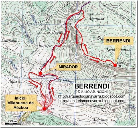Mapa ruta Berrendi