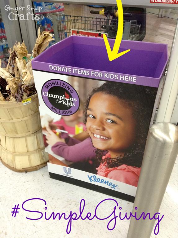 Champions for Kids #SimpleGiving Monthly Service Project #shop #cbias