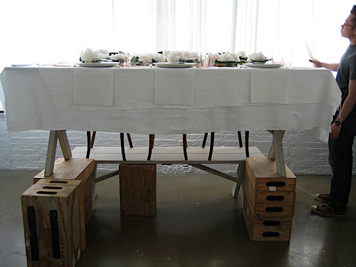 We raised our peony table up on appleboxes for a shot we did with the windows blown out to just wisps of white.