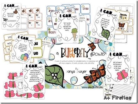 A Butterfly Grows Word Work
