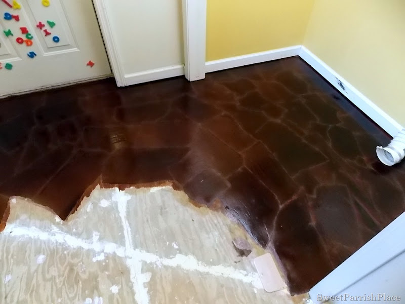 DIY brown paper floor