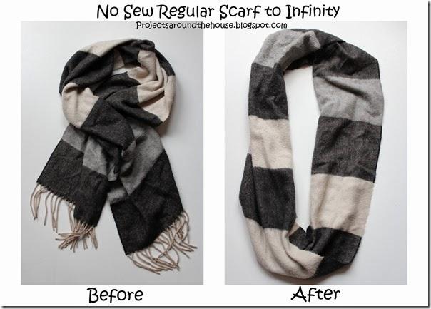 No sew regular scarf to infinity