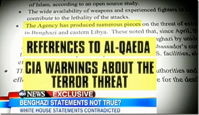 CIA References Benghazi to al Qaeda