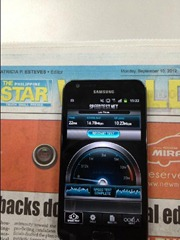 Samsung GALAXY S II Smart 4G LTE Speedtest