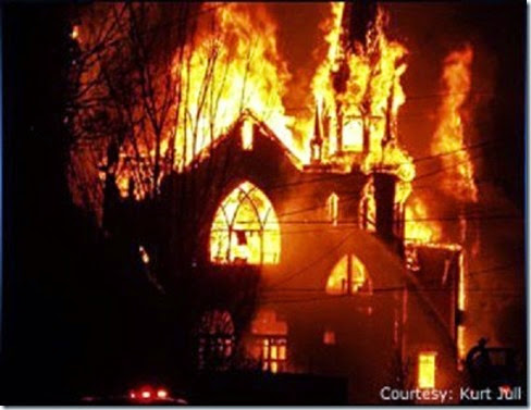 Pakistan Church Burning