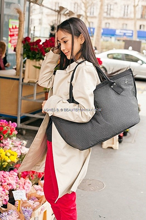 agnès b. tote bags VOYAGE 2012 Paris accessories Spring Summer le casino polka dots ab. Heart striped star prints Angelbaby HK