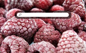 Red Raspberry Fruits / Ice Frozen Food in Winter