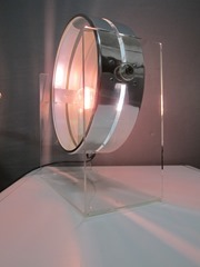 Sculptural Lucite infinity table lamp