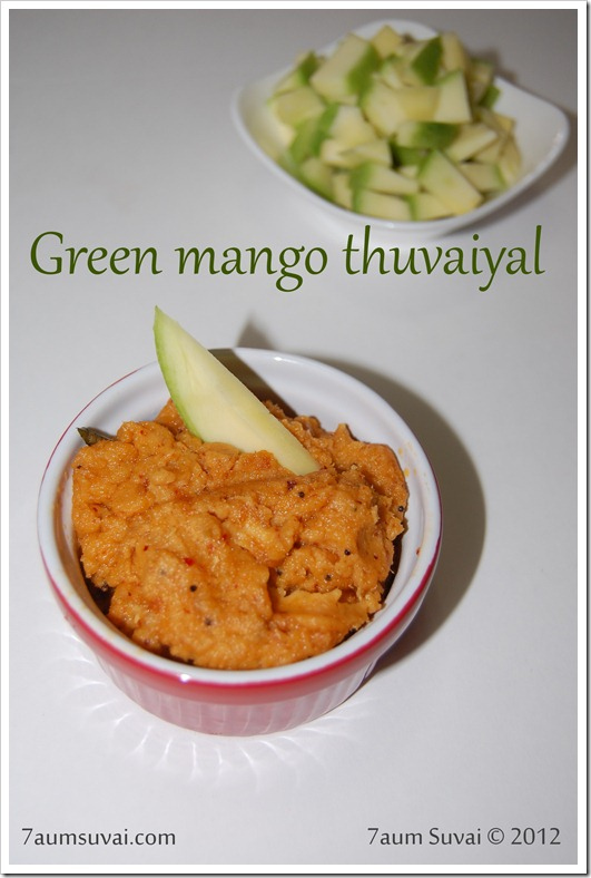 Green mango thuvaiyal