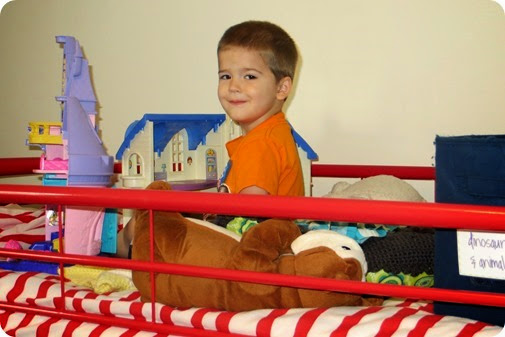 Nolan Playing on Bunk Bed