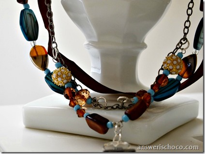 Toffee and Turquoise Necklace