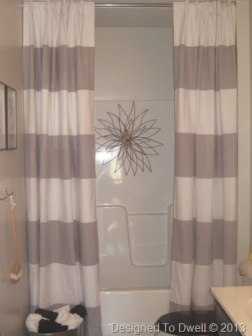 How to hang a double shower curtain