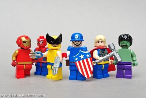 marvel super herois de lego desbaratinando