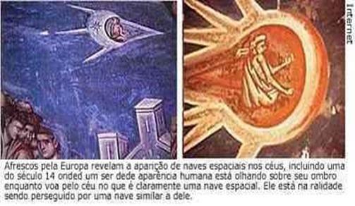 anjos ou espaçona pintura