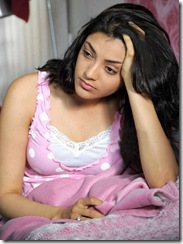 Kajal Agarwal in rose nighty