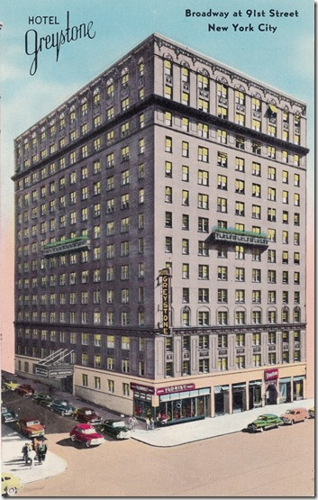 Greystone Hotel, New York City Vintage Postcard pg. 1