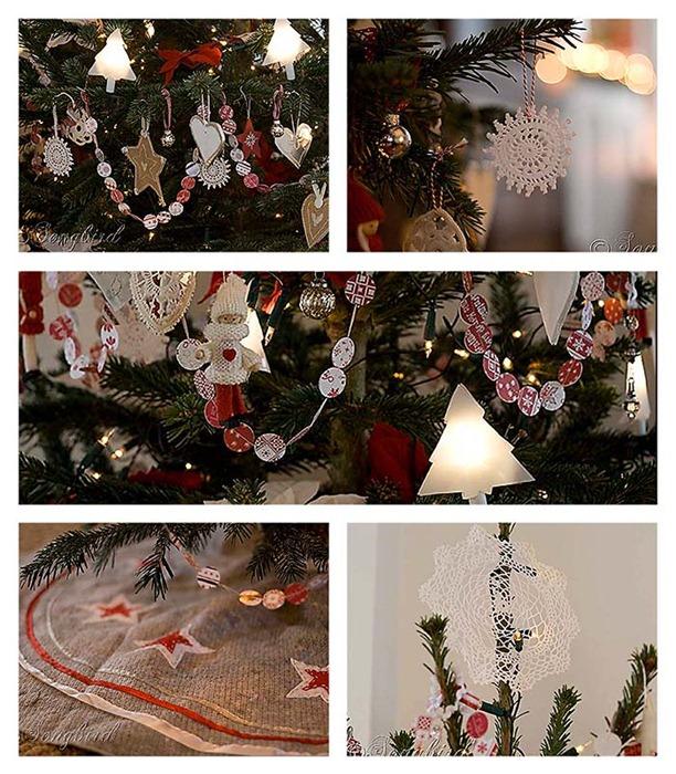 Songbird Рождественская елка Коллаж