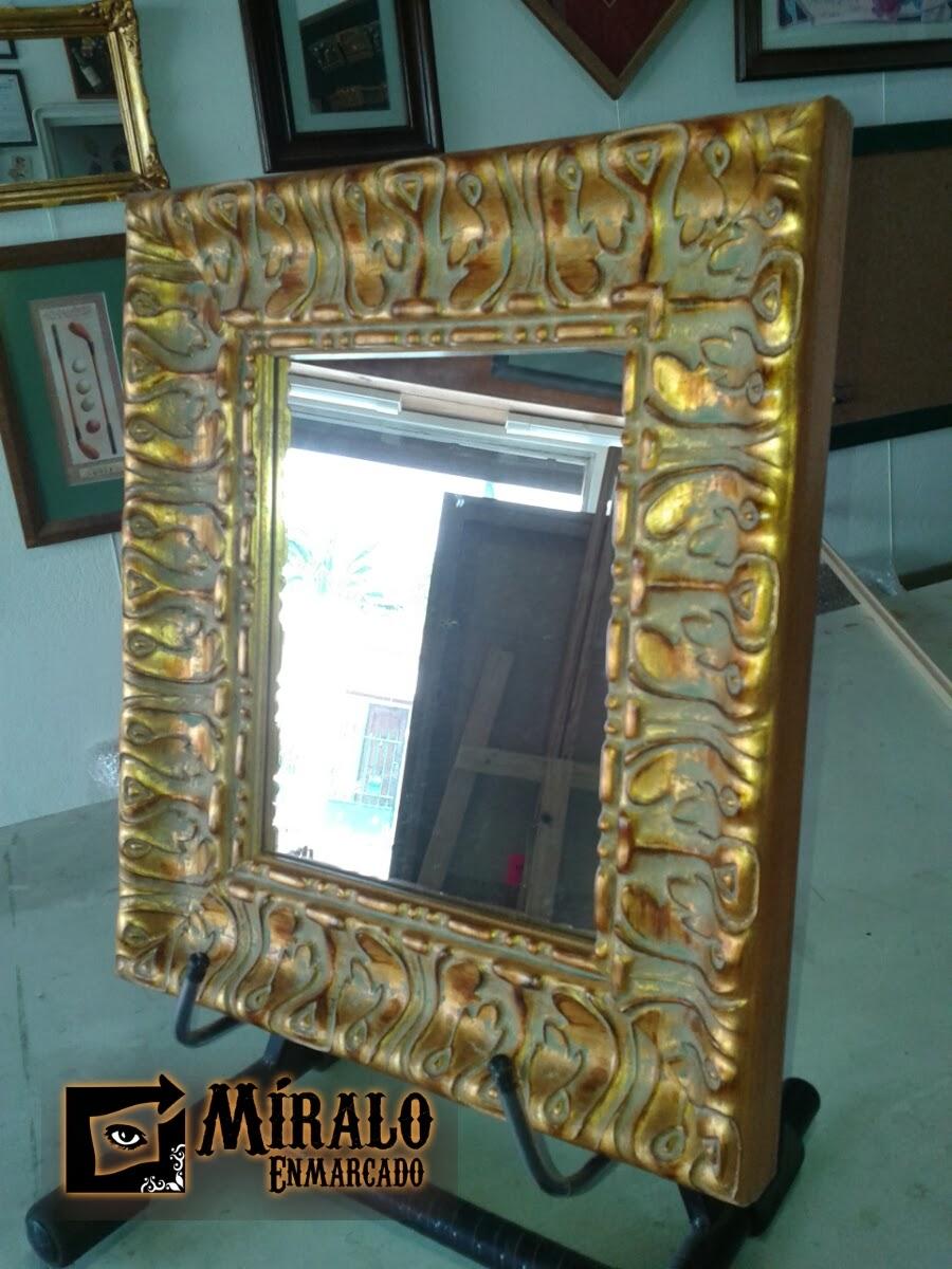 Enmarcado de espejos decorativos a medida for Marcos para espejos a medida