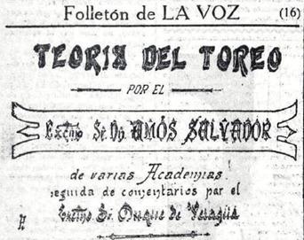 Historia del toreo-La Voz