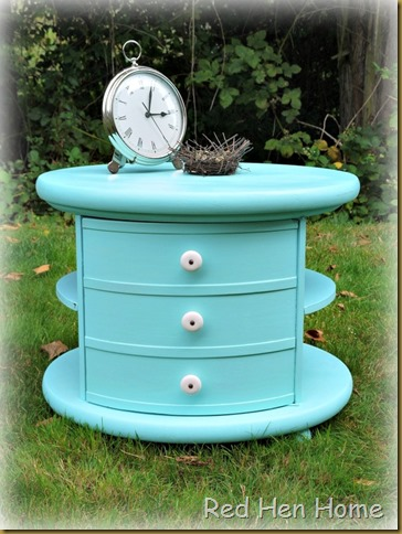 Red Hen Home Round Aqua Table 2