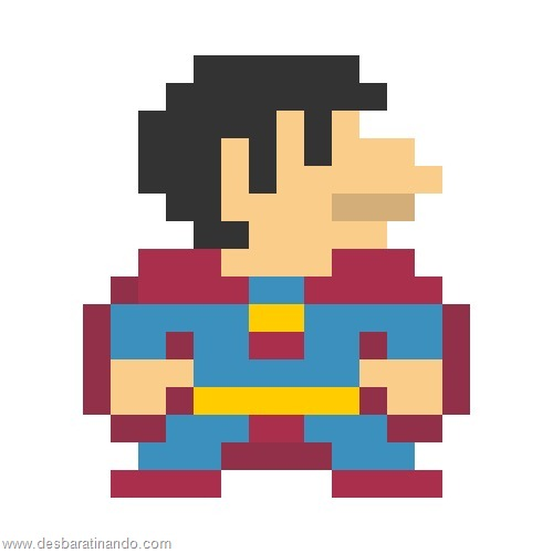 super herois e viloes em 8 bits super homem (3)