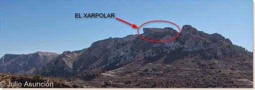 El Xarpolar desde el otro lado del  valle