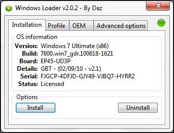 Activating Windows 7 and Windows Vista