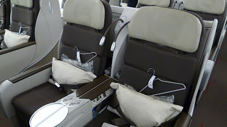 Air France: business class pe Airbus 380.JPG