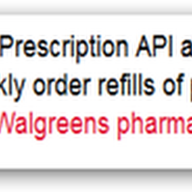 "Walgreens Announces Healthspek An API Launch Partner and New Personal Health Record for the IPad They Produced, I'll Pass and Remaining ""Untethered"""