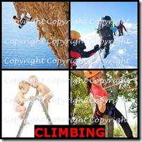 CLIMBING- 4 Pics 1 Word Answers 3 Letters