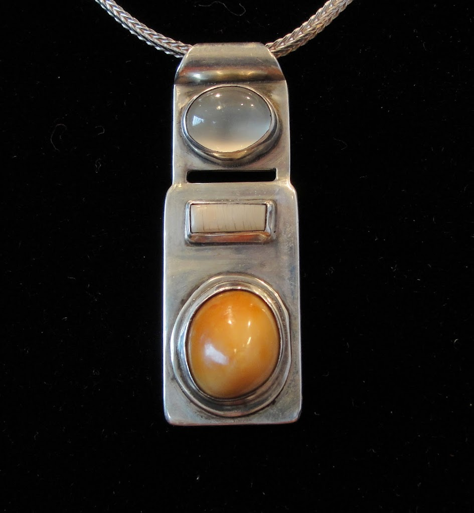 Moonstone, Ivory & Walrus Tooth....Sold