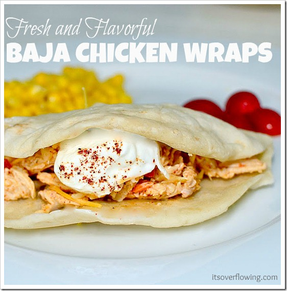 baja chicken wraps