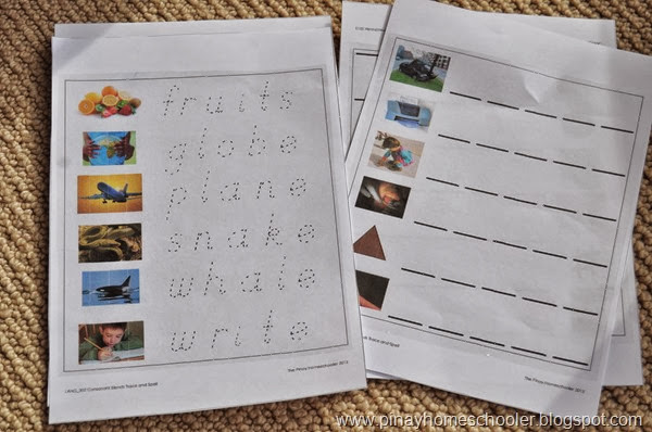 Consonant Blends Trace and Spell Worksheets