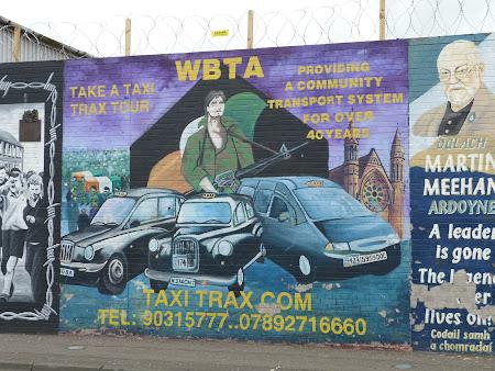 Obiective turistice Irlanda de Nord: Reclama la Taxi tur Belfast