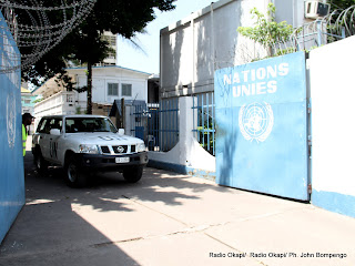 L'entrée principale du quartier général de la Monusco à Kinshasa. Radio Okapi/Ph. John Bompengo