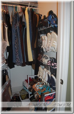 Master Closet Makeover Before {A Sprinkle of This . . . . A Dash of That}