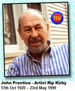 17th October 2014 John Prentice Artist of Rip Kirby Birth Day