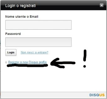 Login disqus