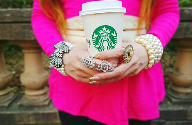 Pearl Jewelry, Crystal Ring, Starbucks