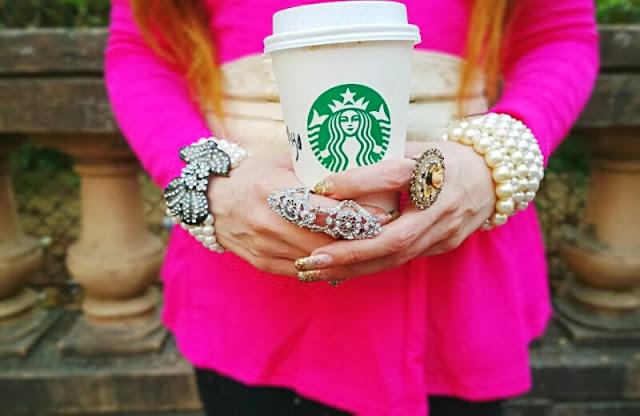 Pearl Jewelry, Crystal Ring, Starbucks