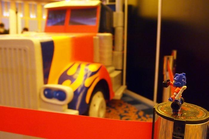 Optimus Prime Taking a Picture of Movie Prime