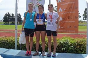 La marchista Lourdes Uranga alcanzó la medalla plateada en la prueba de  3000 mts