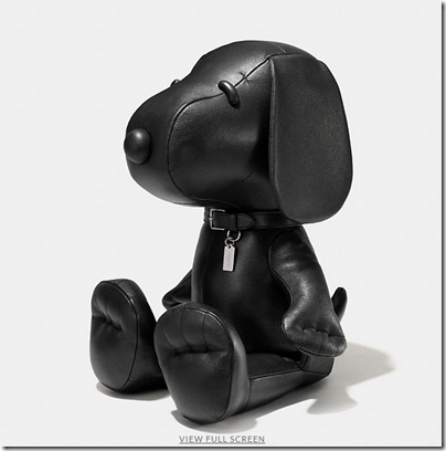 COACH X Peanuts XL leather snoopy doll - USD 2000 - black