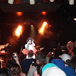 bronwyn on stage of electric youth in Hamilton, Ontario, Canada