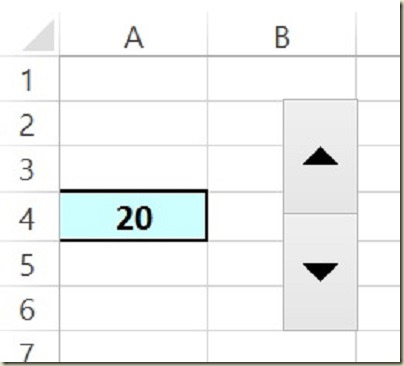 Form Controls in Excel - Final Spin Button