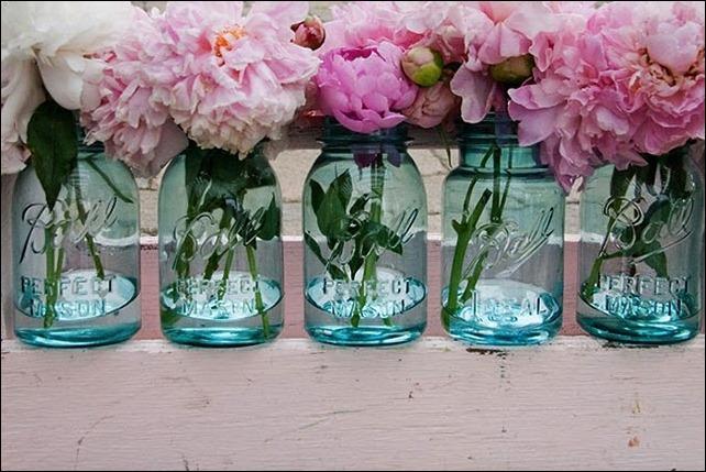 azul vaso rosa casamento
