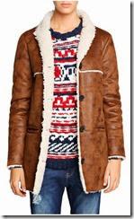 Mango Faux Sheepskin Coat