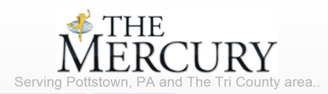 Masthead for The Mercury of Pottstown, PA. Graphic: The Mercury