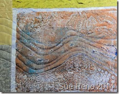 If I Woke at Dawn, a work in progress by Sue Reno,m detail 6